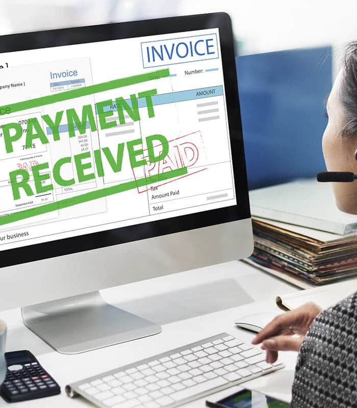 Employee streamlining the accounts receivable process